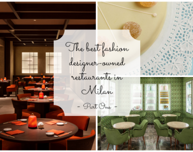 What are the best fashion designer-owned restaurants in Milan?