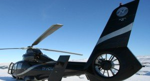 Helicopter-on-a-glacier
