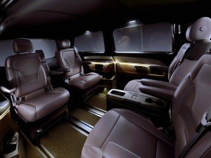 The new Mercedes-Benz V-Class – Interior, Fond, TecDays 2013